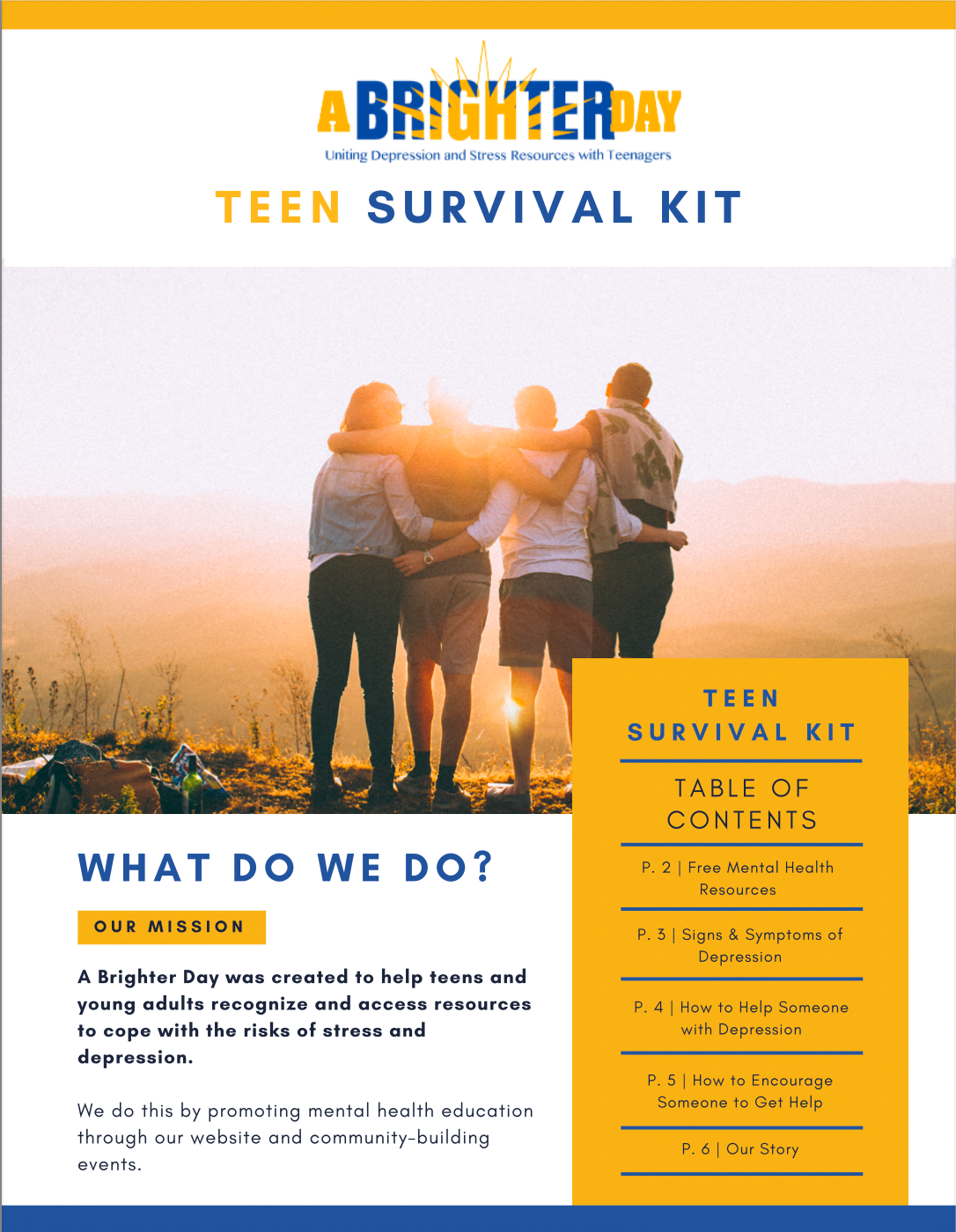A Brighter Day Teen Survival Toolkit Cover Page